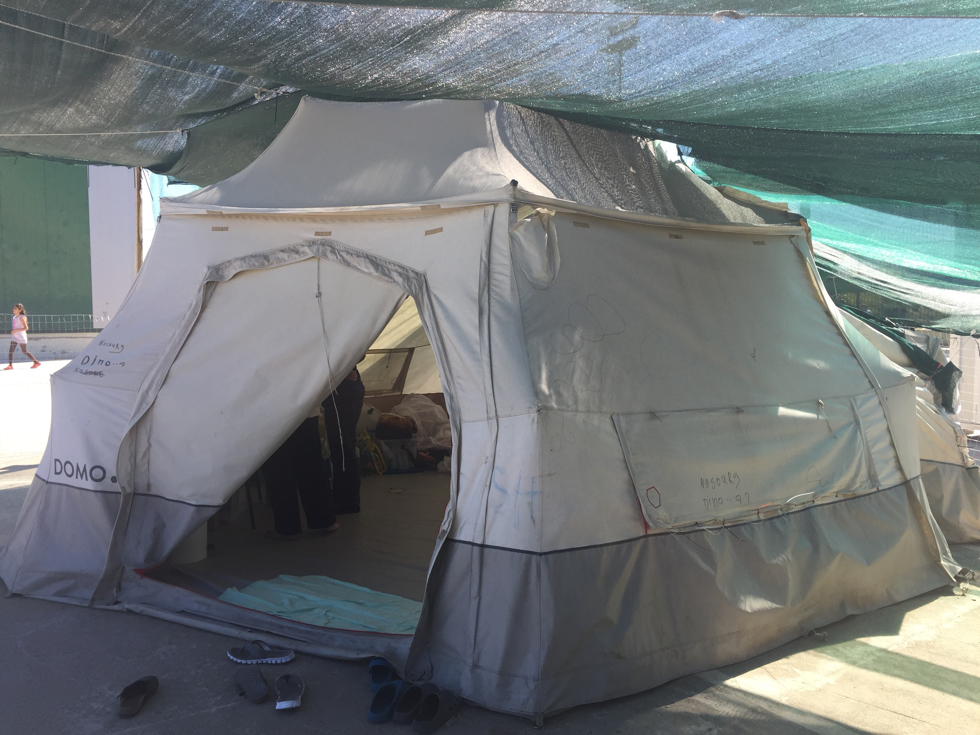 tent in refugee camp